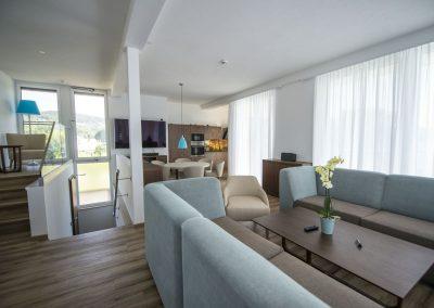 Wohnraum Penthouse_Boutiquehotel_Wörthersee