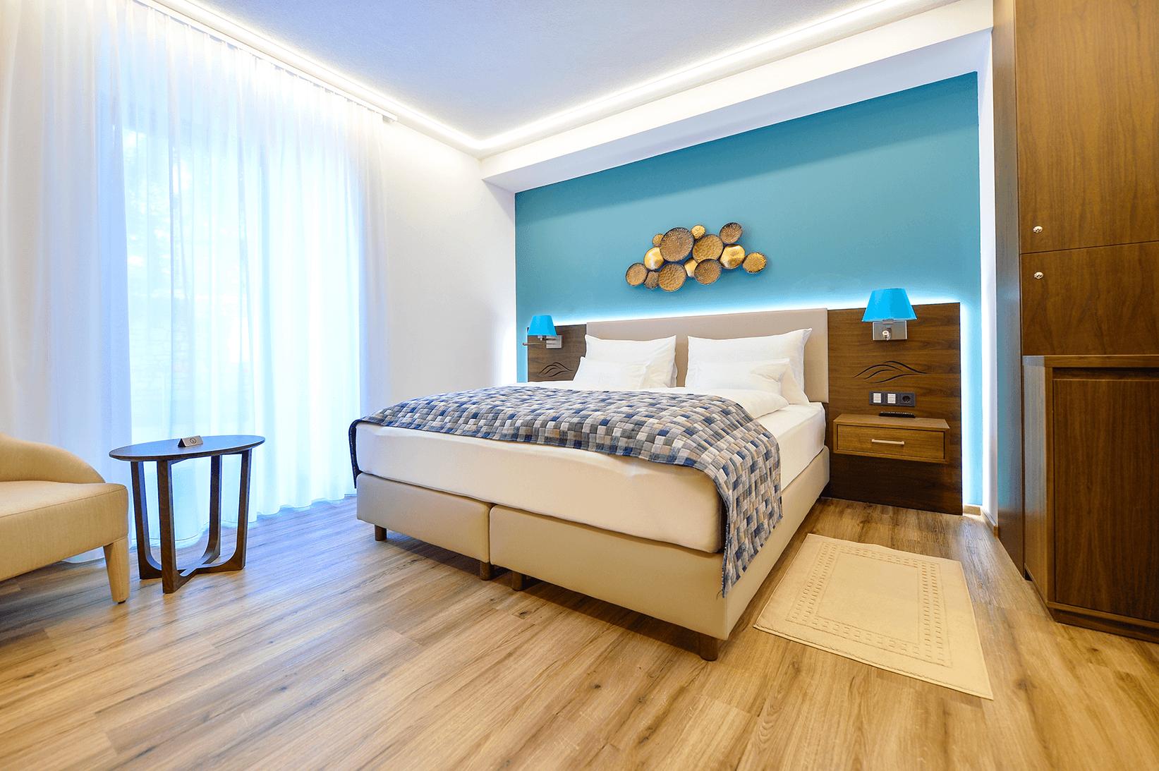 Doppelzimmer ohne Balkon_Erdgeschoß_Boutiquehotel_Wörthersee