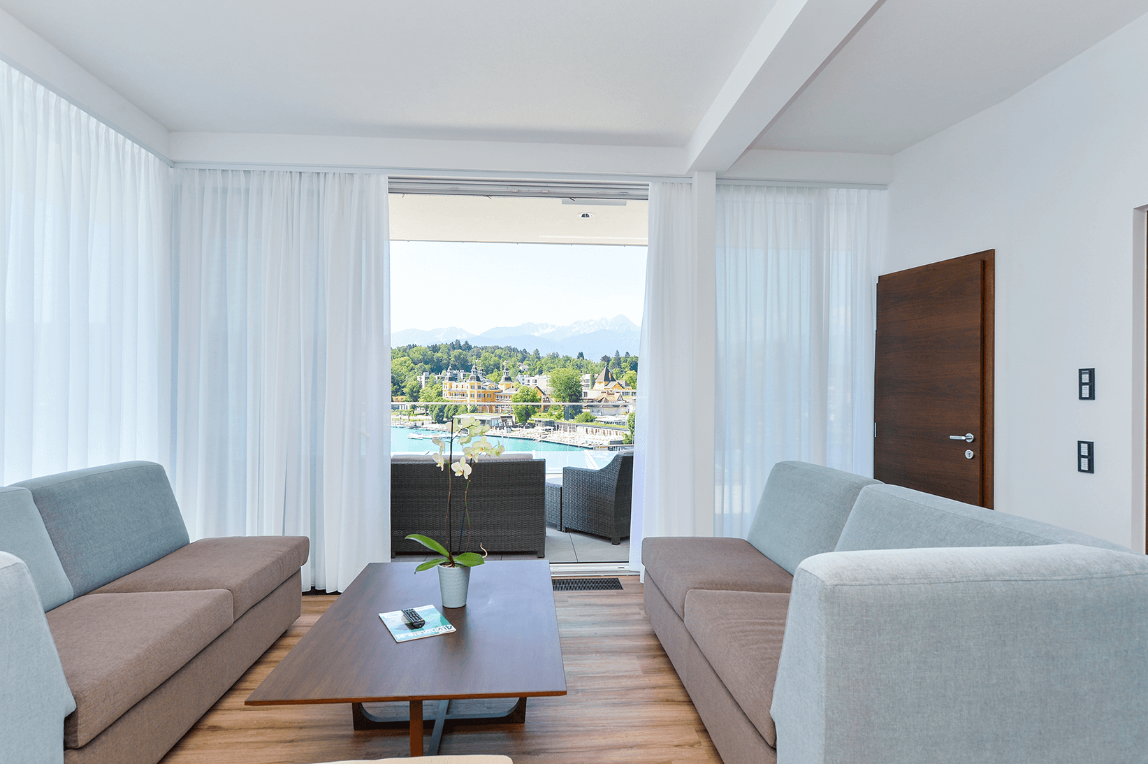 Wohnbereich_Penthouse_Boutiquehotel_Wörthersee
