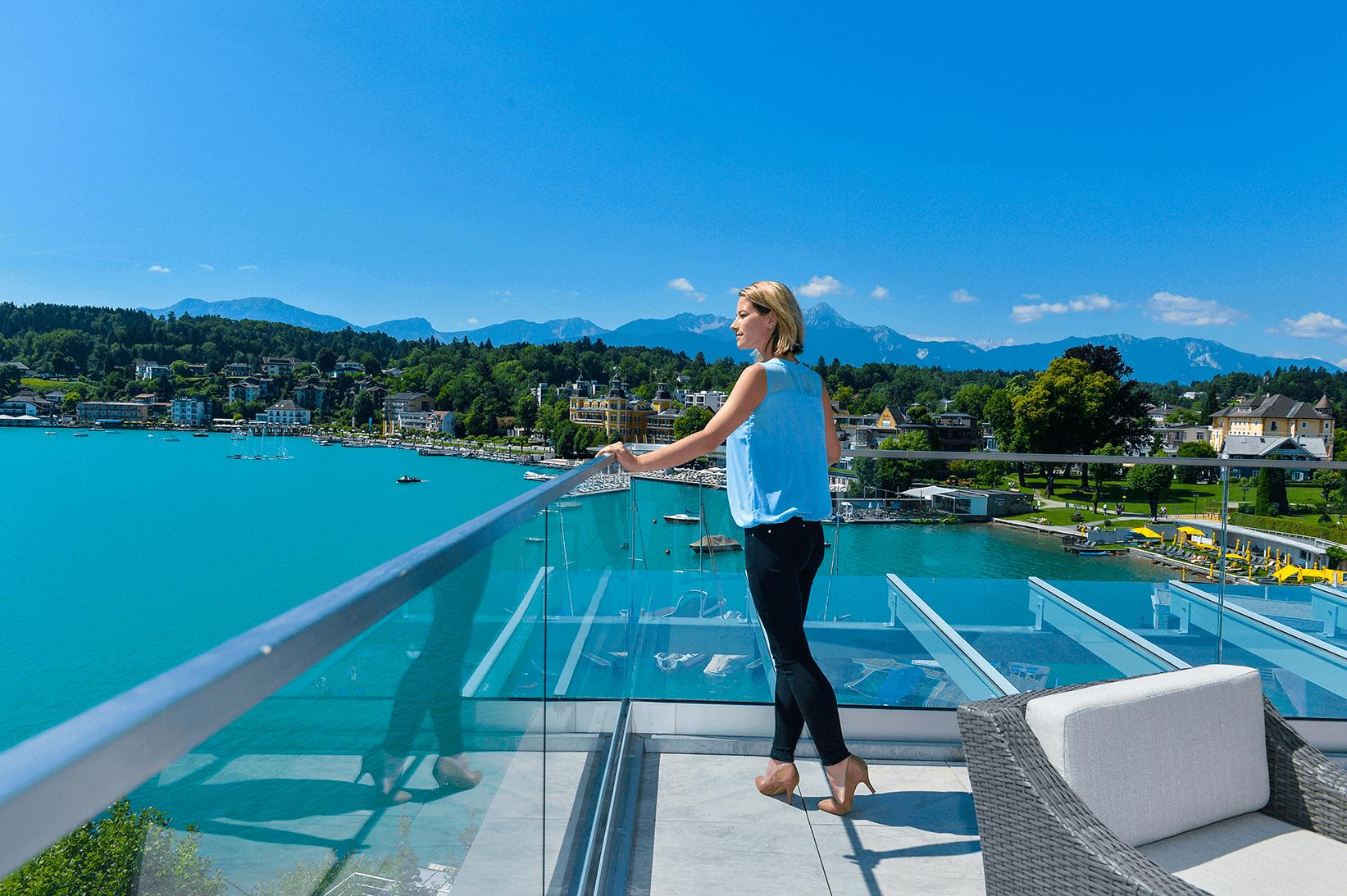 Aussicht Penthouse Terrasse_Boutiquehotel_Wörthersee