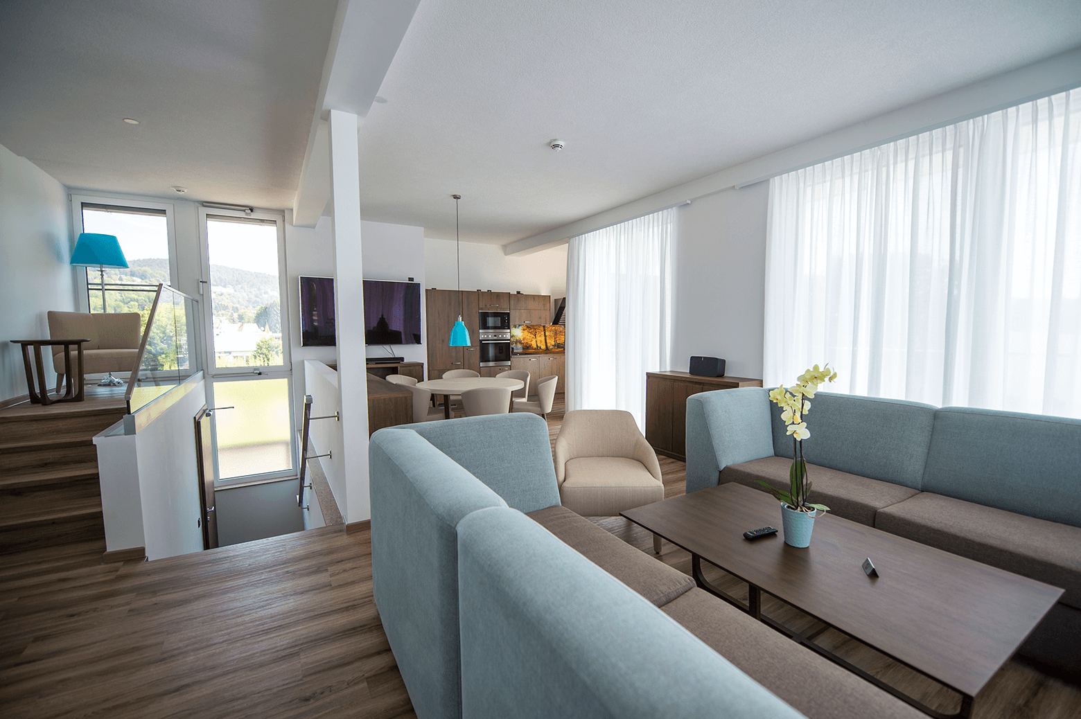 Wohnraum Penthouse_Boutiquehotel_Wörthersee