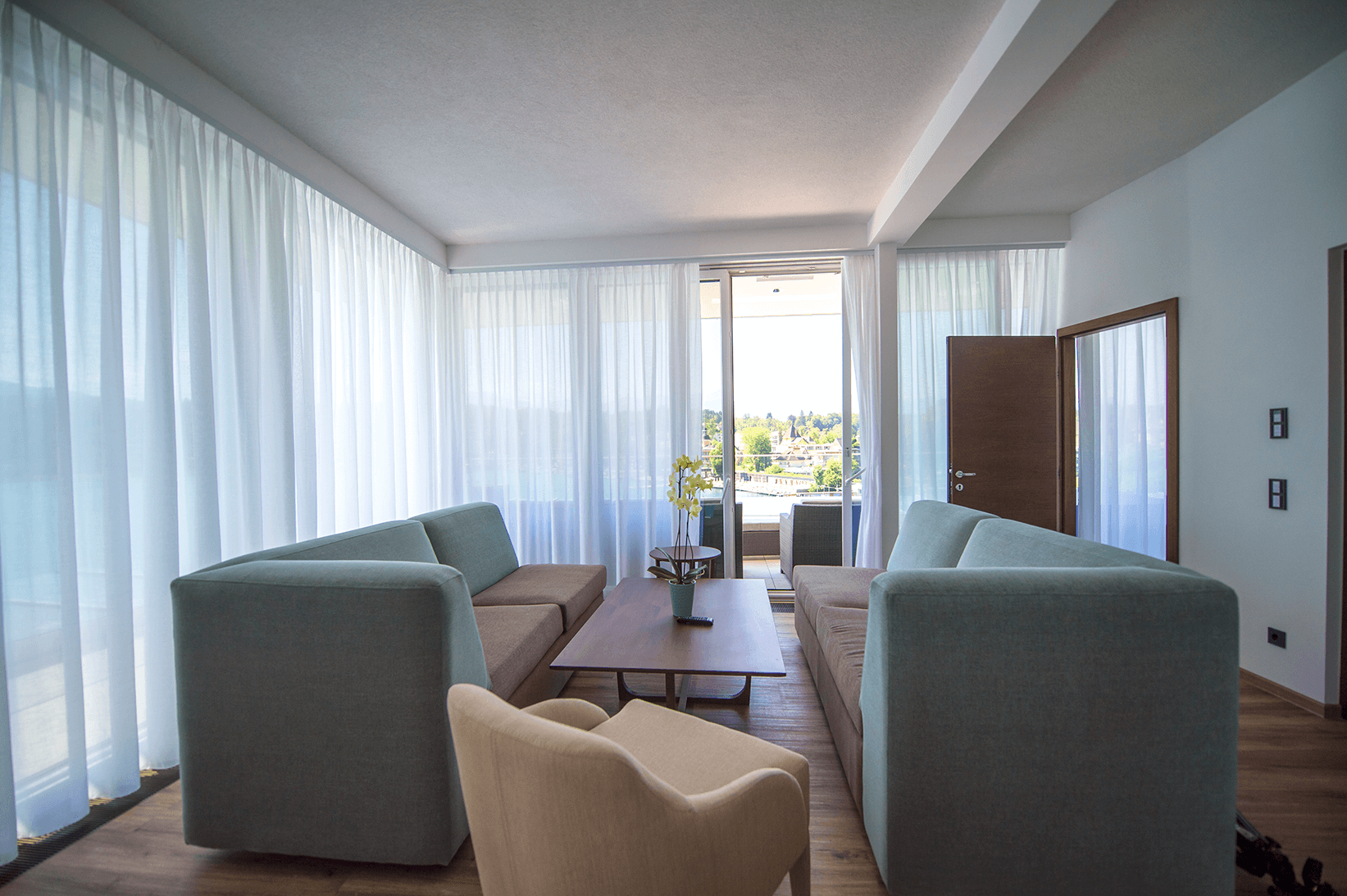 Wohnraum_Penthouse_Boutiquehotel_Wörthersee