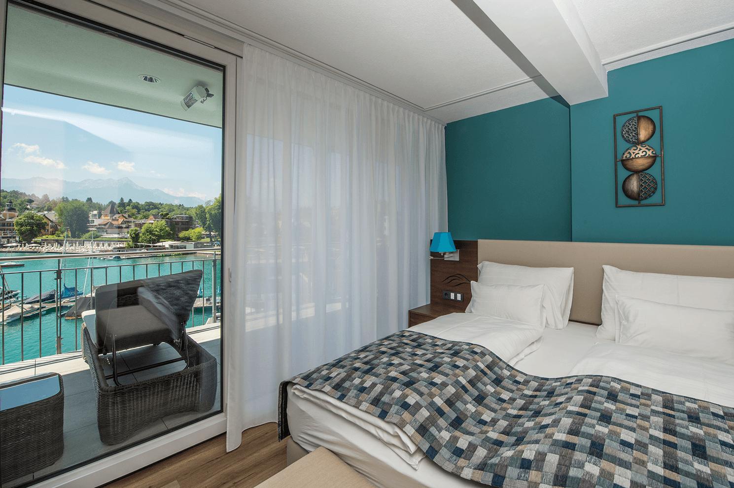 Schlafzimmer_Suite_Obergeschoß_Boutiquehotel_Wörthersee